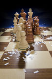Szachowy nadchodzący chessboard Zdjęcia Stock