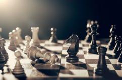 Szachowy pieniężny strategii biznesowej pojęcie Obrazy Royalty Free