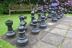 szachowy plenerowy set Zdjęcie Royalty Free