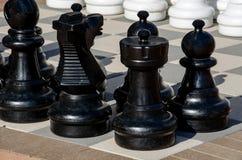 szachowy plenerowy set Zdjęcie Stock