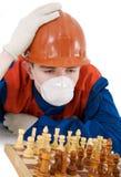szachowy robotnik Fotografia Royalty Free