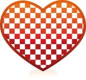 szachowy serce Zdjęcia Royalty Free