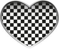 szachowy serce Zdjęcia Stock