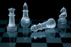 szachowy szklany makro- ustalony strzał Obraz Stock