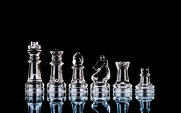 szachowy szklany set Obrazy Royalty Free