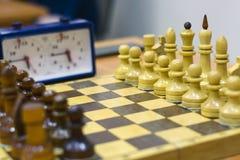 Szachowy turniej, część mistrzostwo na inteligenci, rywalizacja, gra planszowa Zdjęcia Stock