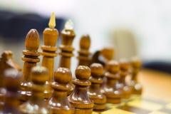 Szachowy turniej, część mistrzostwo na inteligenci, rywalizacja, gra planszowa Zdjęcie Royalty Free