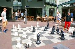 szachowy wczesnego poranku ulicy światło słoneczne Obraz Stock