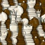 Szachowych kawałków wzór Obrazy Royalty Free