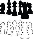 szachowych kawałek ikon ilustracyjny wektora Zdjęcia Stock