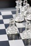 szachy 2 szkła Obrazy Stock
