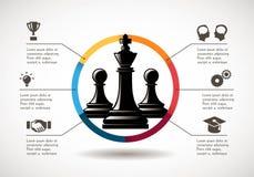 Szachy - Biznesowa wzrostowa strategia royalty ilustracja