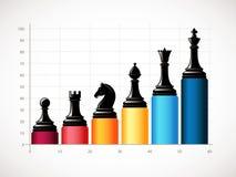 Szachy - Biznesowa wzrostowa strategia ilustracja wektor