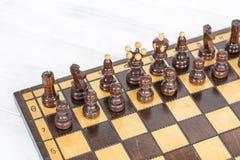 szachy czarny deskowego czeka koniec gry biznesowego głównej atrakci kumpla strat metafory szachy monochrom nad sukcesem strategi Obraz Stock