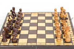 szachy czarny deskowego czeka koniec gry biznesowego głównej atrakci kumpla strat metafory szachy monochrom nad sukcesem strategi Obrazy Stock