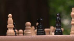 szachy grać zbliżenie zbiory wideo