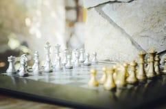szachy Gra planszowa początkującego szachowego podniecenia gemowa szklana turnieju woda obrazy stock