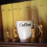 Szachy i kawa Zdjęcia Stock