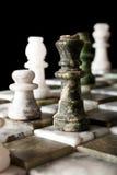szachy marmur Zdjęcia Royalty Free