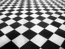 Szachy marmurowa podłoga Fotografia Royalty Free
