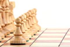 Szachy na chessboard zdjęcia royalty free