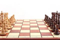 Szachy na chessboard obraz royalty free