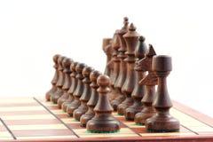 Szachy na chessboard zdjęcie stock