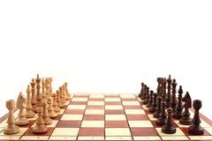 Szachy na chessboard zdjęcie royalty free