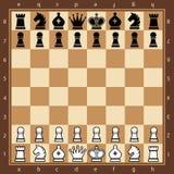 szachy Odgórny widok Fotografia Royalty Free
