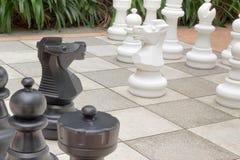 szachy ogród Obraz Royalty Free