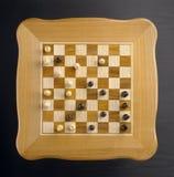 Szachy stół zrobił ââof drewnu Zdjęcie Royalty Free