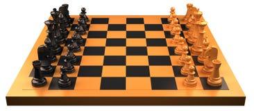 szachy stół Zdjęcie Royalty Free