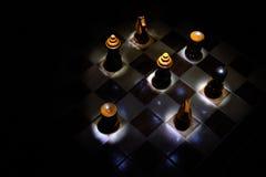 szachy stół Fotografia Royalty Free