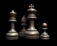 szachy stary fotografia stock