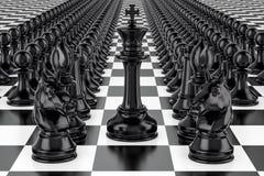 Szachy, strategii pojęcie 3d Zdjęcia Royalty Free