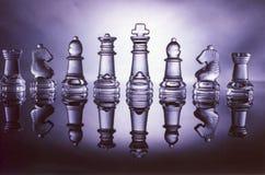 szachy szkła Zdjęcia Stock
