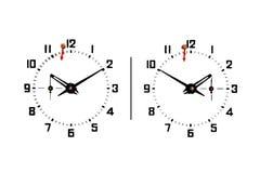 szachy zegar Obrazy Stock