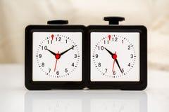 szachy zegar zarys ilustracji wektora Zdjęcie Royalty Free