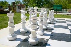 szachy zewnętrznego Fotografia Royalty Free