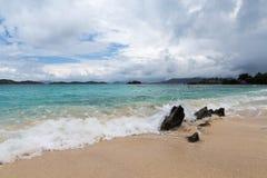 Szafir plaża na St Thomas w USA Dziewiczych wyspach Zdjęcia Royalty Free