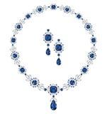 Szafirowa biżuteria Obrazy Royalty Free