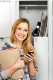 szafki uczą kogoś trwanie ucznia Fotografia Royalty Free