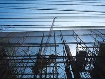 Szafotu budynku budowy Przemysłowy tło Zdjęcia Stock