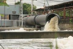 Szaleje Rynsztokowego Wypływowego stormwater, woda, drenaż obrazy stock