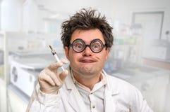 Szaleni doktorscy spełnianie eksperymenty w szpitalu fotografia royalty free