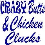Szaleni krupony i kurczak Kwoczą ilustracja wektor