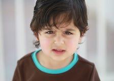 Szalenie chłopiec fotografia royalty free