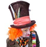 Szalenie hatter ` s różne twarzowe emocje Zakończenie portret smi Fotografia Stock