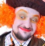 Szalenie hatter ` s różne twarzowe emocje Zakończenie portret smi Obraz Royalty Free