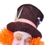 Szalenie hatter ` s różne twarzowe emocje Zakończenie portret smi Zdjęcie Stock